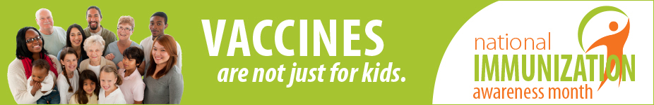 National Immunization Awareness Month banner for adults