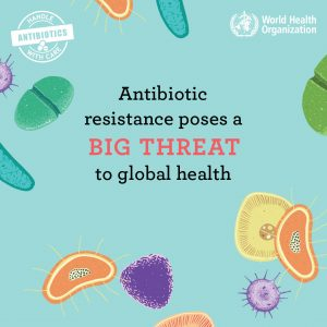 Antibiotic resistance poses a big threat to global health